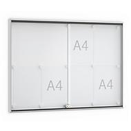 Informatiebord met schuifdeur, 920 x 674 mm