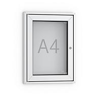 Informatiebord voor affiches, A4, puntig, aluminiumkleurig/zilverkleurig