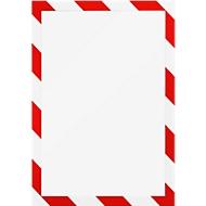 Informatiekader DURAFRAME® SECURITY A4, rood/wit, 2 stuks