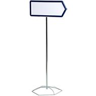 Infoständer, Pfeil, 500 x 200 mm, blau