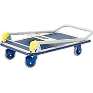 Inklapbare plateauwagen PRESTAR®, L 740 x B 480 mm, draagvermogen 150 kg