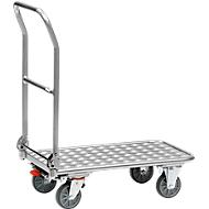 Inklapbare platformwagen, aluminium, 720 x 450 mm