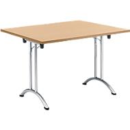 Inklapbare tafel, 1200 x 800 mm, beuken/chroom