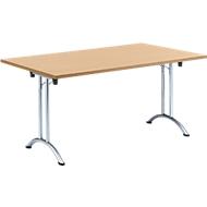 Inklapbare tafel, 1600 x 800 mm, beuken/chroom