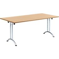 Inklapbare tafel, 1800 x 800 mm, beuken/chroom