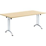 Inklapbare tafel, 1800 x 800 mm, esdoorn/chroom