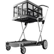 Inklapbare trolley CLAX® incl. vouwkrat, 46 l, grijs