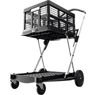 Inklapbare trolley CLAX® incl. vouwkrat, 46 l, grijs/zwart