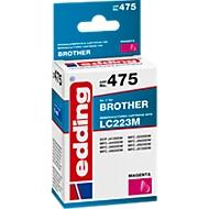 Inkt Edding voor Brother LC223M, magenta