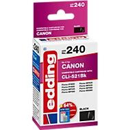 Inktcartridge edding compatibel met Canon CLI-521BK, zwart, 3425 pagina's