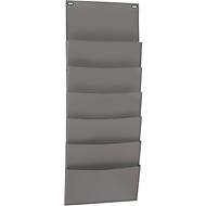 Insteekbord hangend model, PP, A4 liggend, 6 vakken