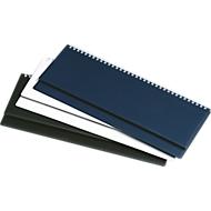 Internationaler Schreibtisch-Querkalender, Kunststoff, schwarz