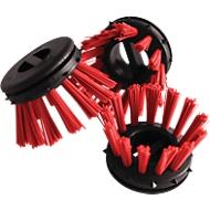 Inzetborstel voor rubberen ringmat, rood