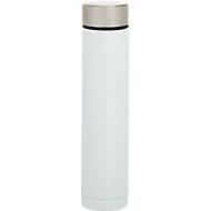 Isolierflasche Slimly, 250 ml, H 210 x Ø 45 mm, doppelwandig, Edelstahl, Lasergravur 25 x 20 mm, weiß