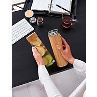 Isolierkanne Bambus, Braun, Standard, Auswahl Werbeanbringung optional