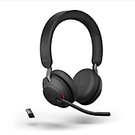 Jabra Headset Evolve2 65 Stereo, Bluetooth, MS Teams, batterij 35h (gesprekken) o. 37h (muziek), zwart