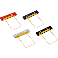 JALEMA Profi-Heftstreifen Clip Plus, Kunststoff, hohe Füllhöhe, 100 Stück, farbig