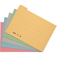 Jeu de 5 pochettes A4 couleur à index