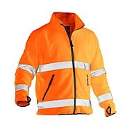 Jobman 5502 PRACTISCHE fleecejas, Hi-Vis, EN ISO 20471 klasse 3, oranje, polyester, L