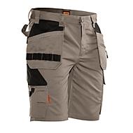 Jobman korte broek 2722 PRACTICAL, met holsterzakken, UV-bescherming, kaki/zwart, maat 46