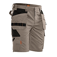 Jobman korte broek 2722 PRACTICAL, met holsterzakken, UV-bescherming, kaki/zwart, maat 56