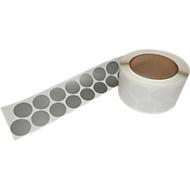 K+K Klebetechnik Gewebeklebepunkte, ø 30 mm, Dicke 0,3 mm, 1.000 St./Rolle, Silber, temperaturbeständig