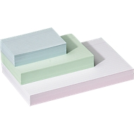 Kaartenbakkaarten, gelinieerd, wit, A4
