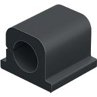 Kabel-Clips CAVOLINE® CLIP PRO, selbstklebend, für 1 Netzkabel, 6 Stück, graphit