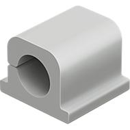 Kabel-Clips CAVOLINE® CLIP PRO, selbstklebend, für 1 Netzkabel, 6 Stück, grau