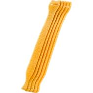 Kabel-Klettverschlüsse, gelb, 10 Stück