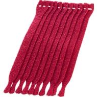 Kabel-Klettverschlüsse, rot, 10 Stück