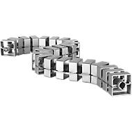 Kabelbeschermslang Quadro, L 750 mm, zilver