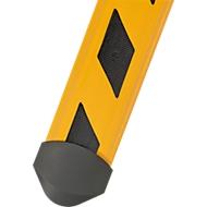 Kabelbruggen B15 CB compact, 1500 mm, geel/zwart gestreept