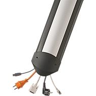 Kabelbruggen B15 EasyLoader 1500 mm, zwart/deksel aluminium zilver