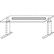 Kabelgoot, voor bureautafel TEQSTYLE met B 1600 mm, metaal