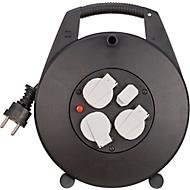 Kabeltrommel Brennenstuhl Vario-Line, 3-fach, 2 x USB, IP20, für den Innenbereich, mit Deckeln, Spezialkunststoff