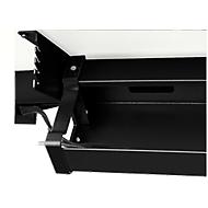 Kabelwanne Standard, für höhenverstellbare Schreibtische ab B 1400 mm, abklappbar, schwarz