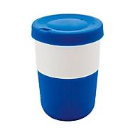 Kaffeebecher, Blau, Standard, Auswahl Werbeanbringung optional