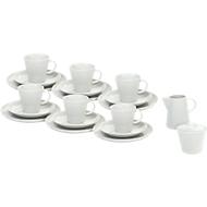 Kaffeegeschirr Solea, uni, weiß, Porzellan, 20-teilig