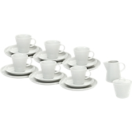 Kaffeegeschirr Solea, weiß, Porzellan, 20-teilig