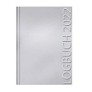 Kalender Logbuch, A4, 264 Seiten, B 216 x H 302 mm, Werbedruck 80 x 50 mm, silber, Auswahl Werbeanbringung optional