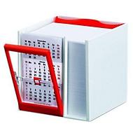 Kalender-Zettelbox, für Druck, Rot, Standard