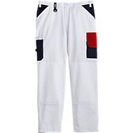 KANSAS® schildersbroek met tailleband Color, wit, m. 46