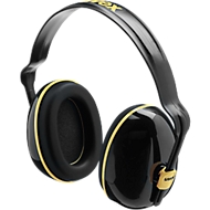 Kapselgehörschutz Uvex K200, dielektrisch, SNR 28 dB, längenverstellbar, 360° drehbar, schwarz/Ocker