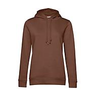 Kapuzensweatshirt Organic, Mokka, L