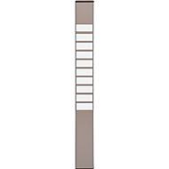 Karten-Sortiertafeln Eichner 9219 Serie, ideal für DIN A4, Index, H 750 x B 80 mm