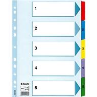 Kartonnen tabbladen met Mylar tabs, A4 formaat, A4, 1-5