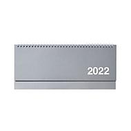 Kartonquerkalender, 128 Seiten, B 305 x H 135 mm, Werbedruck 280 x 20 mm, silber, Auswahl Werbeanbringung optional