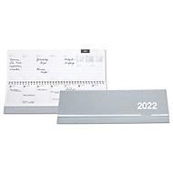 Kartonquerkalender, 128 Seiten, B 305 x H 135 mm, Werbedruck 280 x 20 mm, silber