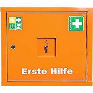 Kast eerste hulp Juniorsafe, Norm DIN 13 157, B 490 x D 200 x H 420 mm, met inhoud + uitbreidingsset, oranje